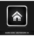 Home default icon silver metal vector