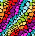 Rainbow hearts vector