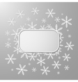 Abstract design with snowflakes vector