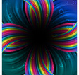 Abstract festive rainbow background vector