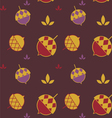 Color acorn seamless background vector