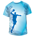 Basketball t-shirt vector