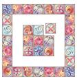 Artistic floral border vector