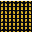 Fashion seamless pattern golden chain on dark vector