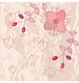 Floral pink background vector
