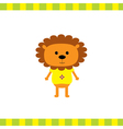 Cartoon lion boy card vector