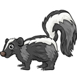 Skunk animal cartoon vector