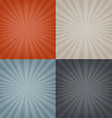 Sunburst backgrounds set vector