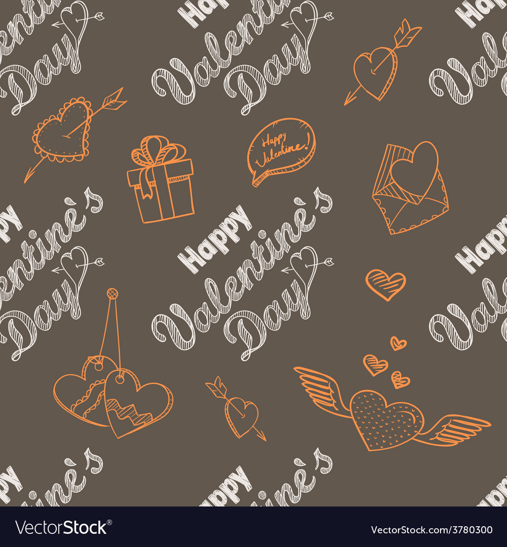 14th february seamless pattern vector | Price: 1 Credit (USD $1)
