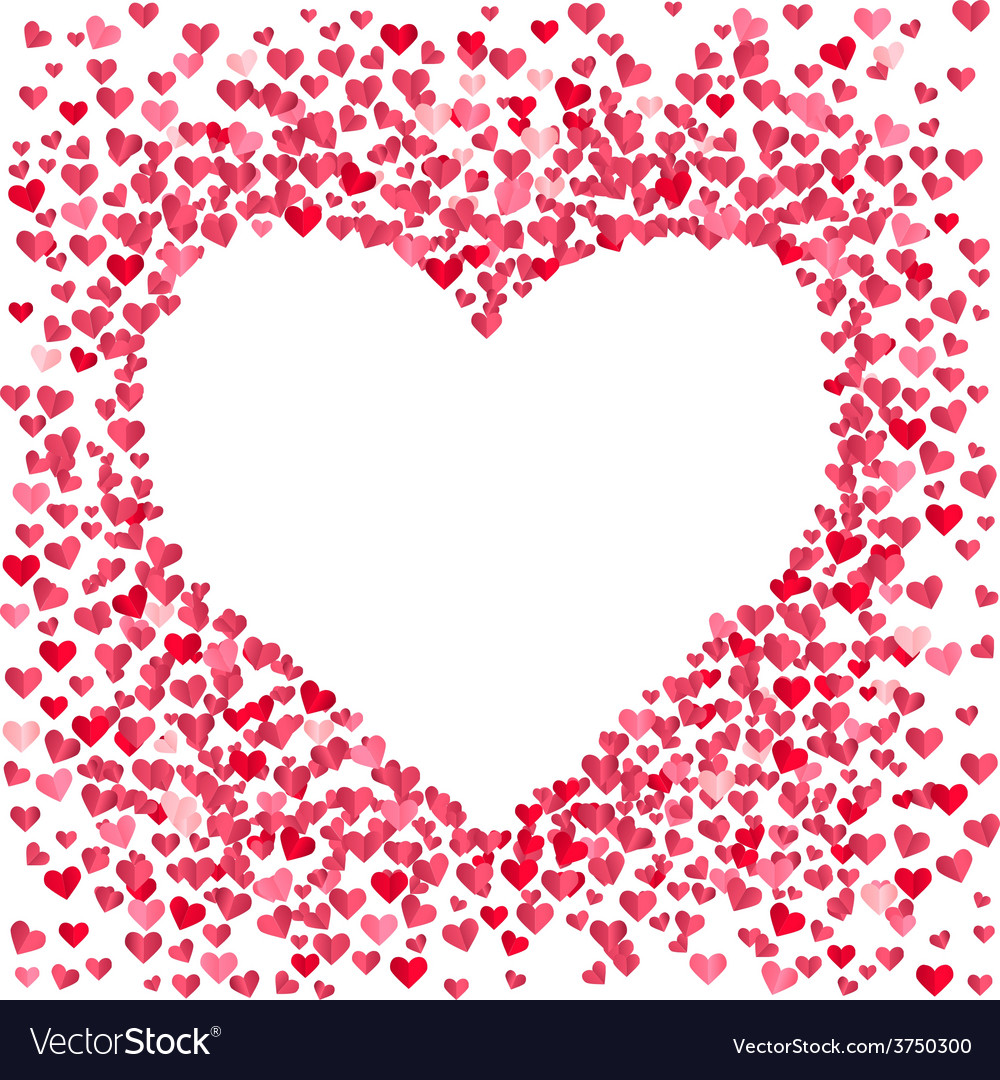 Blank heart made of small confetti hearts vector   Price: 1 Credit (USD $1)
