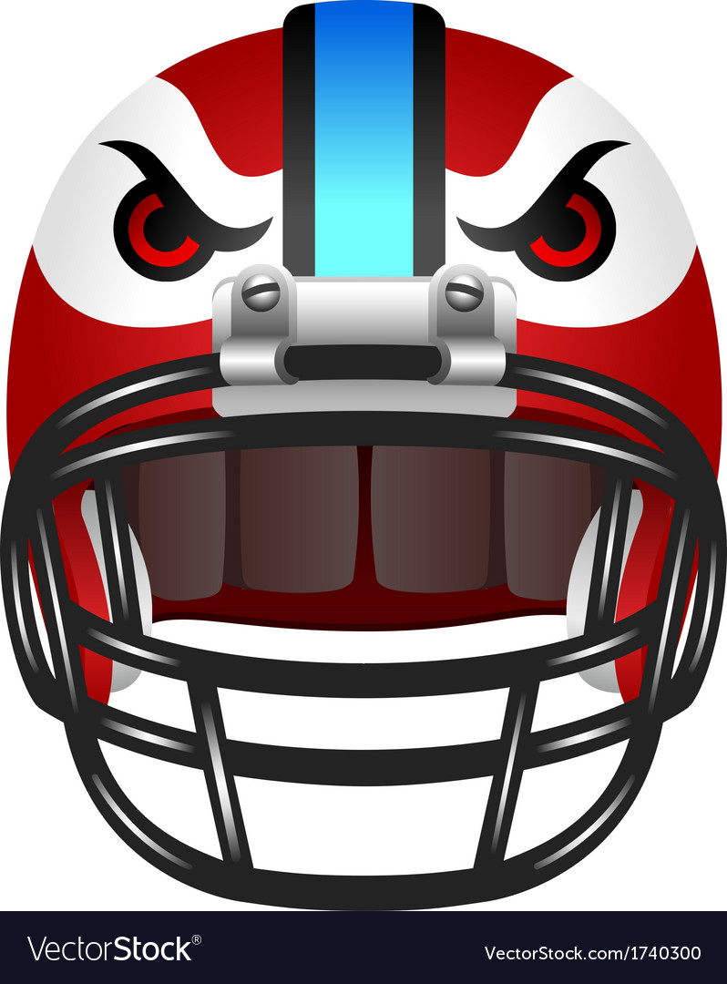 Football helmet with eyes vector | Price: 1 Credit (USD $1)