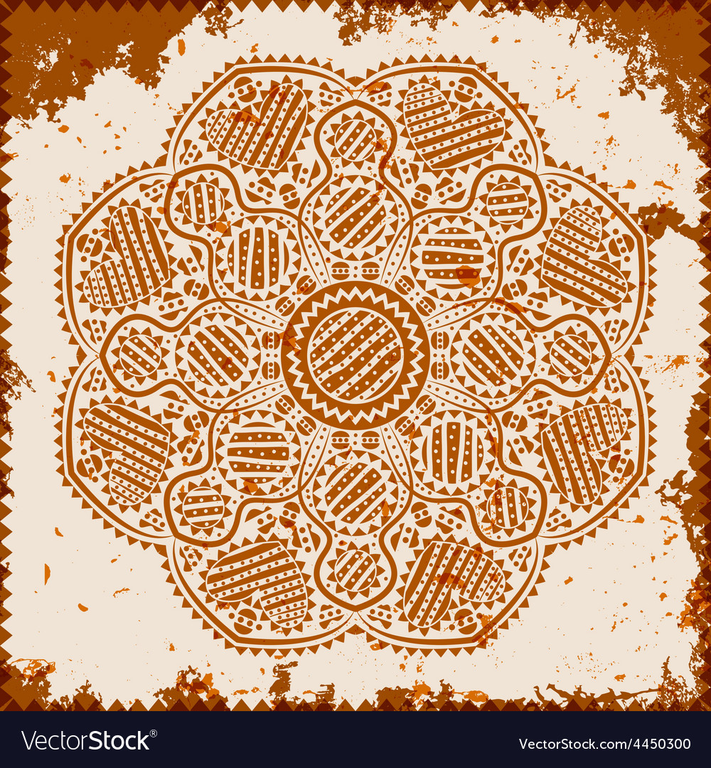 Lace ornament on grunge background vector | Price: 1 Credit (USD $1)
