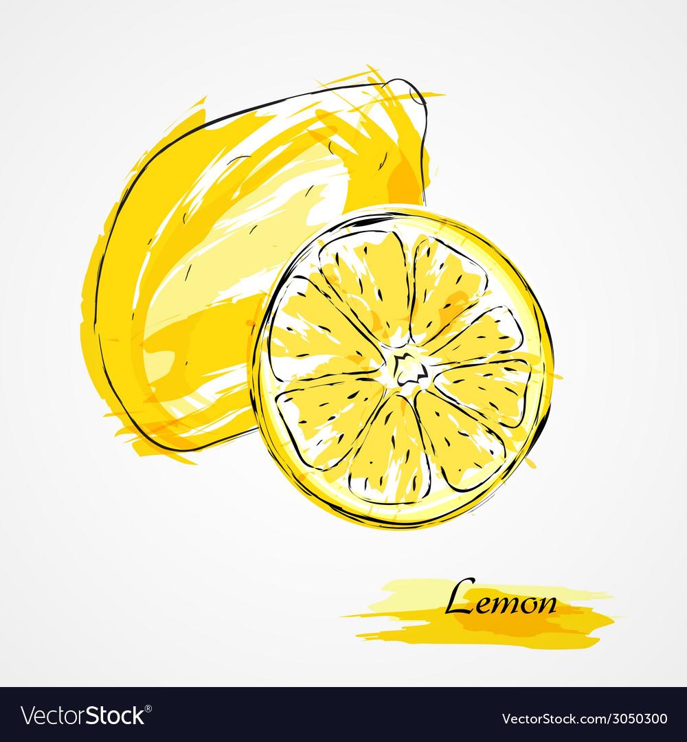 Lemon fruits vector | Price: 1 Credit (USD $1)