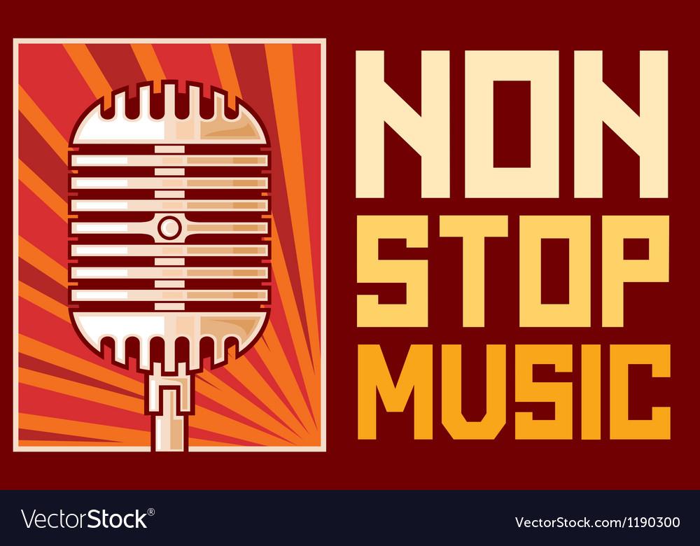 Music poster-microphone vector | Price: 1 Credit (USD $1)