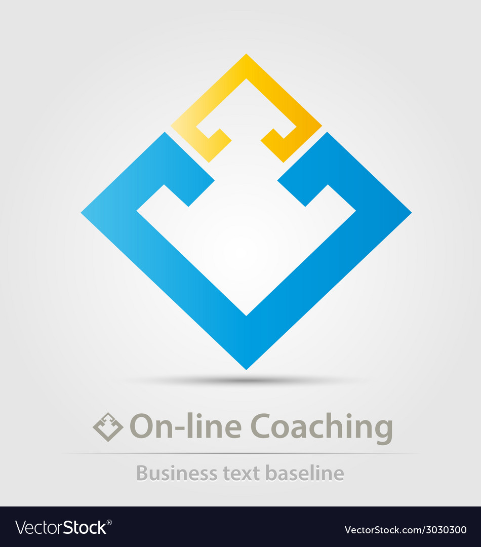 On line coaching business icon vector | Price: 1 Credit (USD $1)
