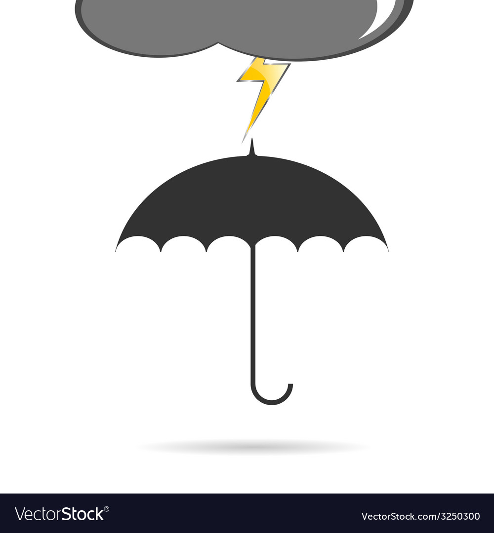 Umbrella with lightning vector | Price: 1 Credit (USD $1)