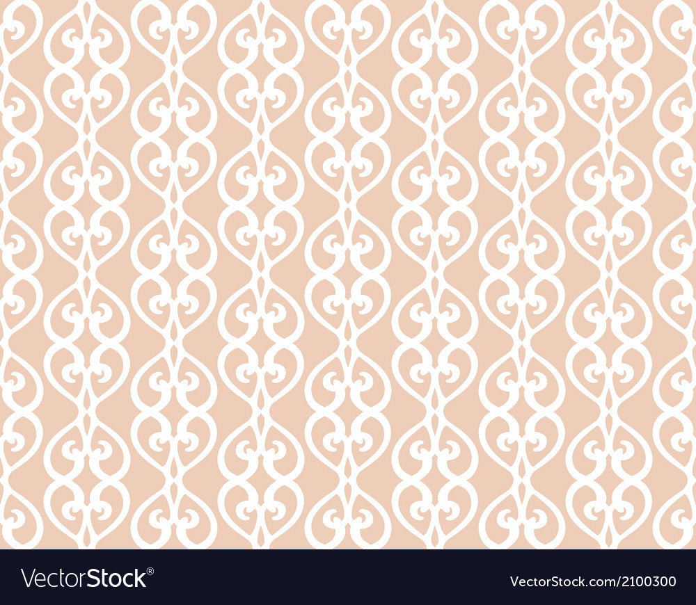 White forged lacing seamless pattern on beige vector | Price: 1 Credit (USD $1)