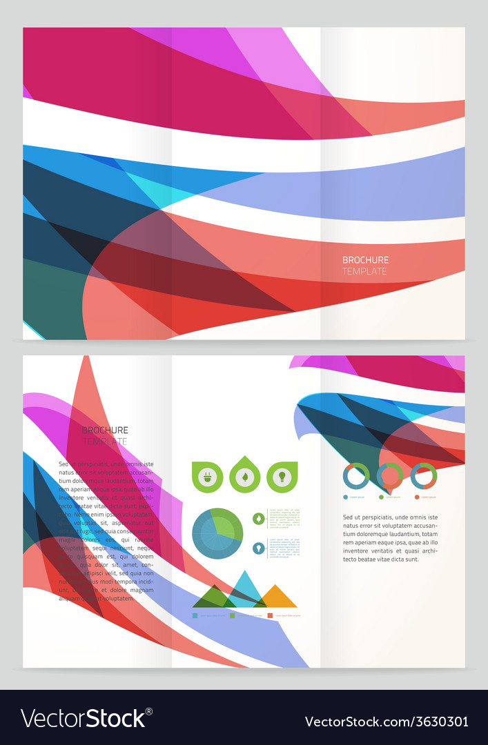 Abstract wave brochure template vector | Price: 1 Credit (USD $1)