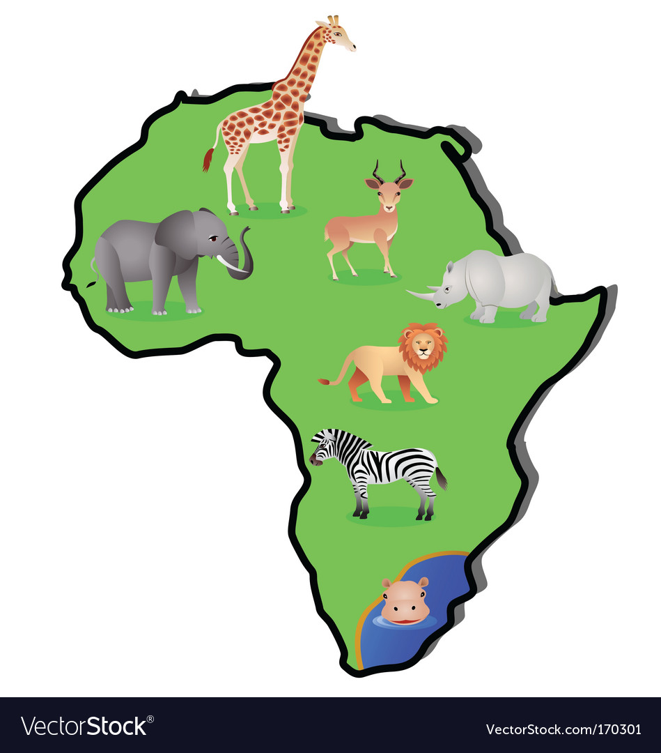 Animal africa vector | Price: 3 Credit (USD $3)