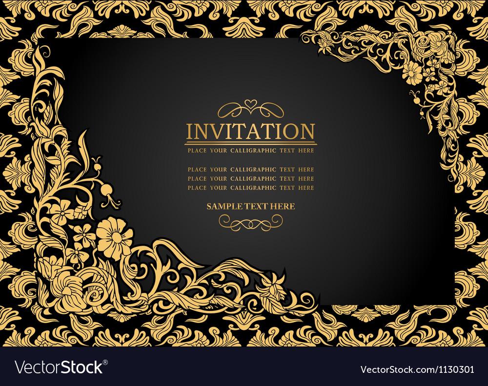 Antique background luxury vintage frame vector | Price: 1 Credit (USD $1)