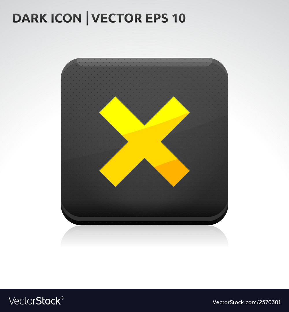 Cancel cross remove icon vector | Price: 1 Credit (USD $1)