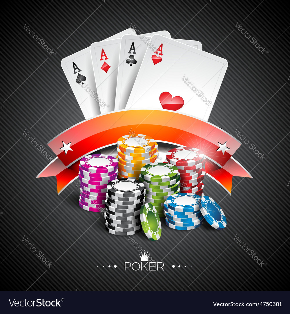 Casino with color playing chips vector | Price: 3 Credit (USD $3)