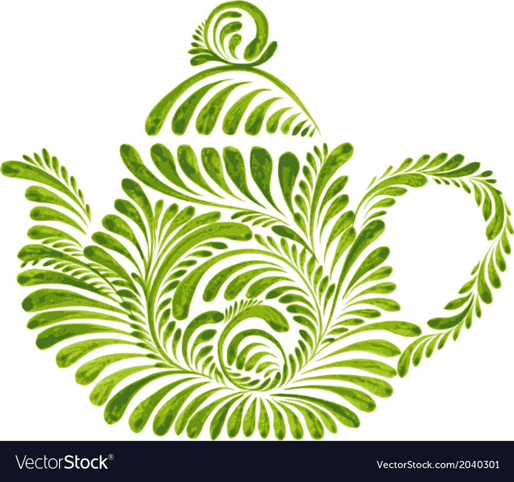 Decorative ornament teapot vector   Price: 1 Credit (USD $1)