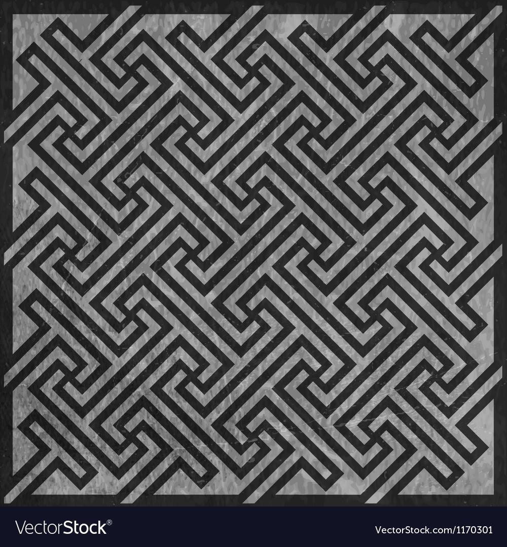 Geometric key pattern vector | Price: 1 Credit (USD $1)