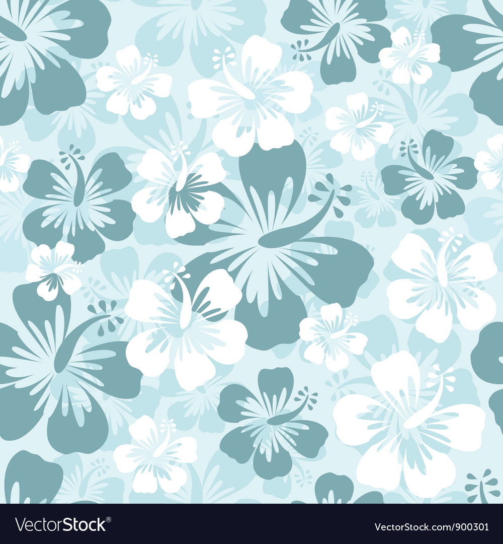 Hibiscus seamless background vector | Price: 1 Credit (USD $1)