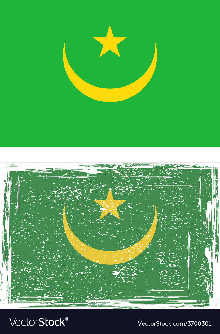 Mauritania grunge flag vector | Price: 1 Credit (USD $1)