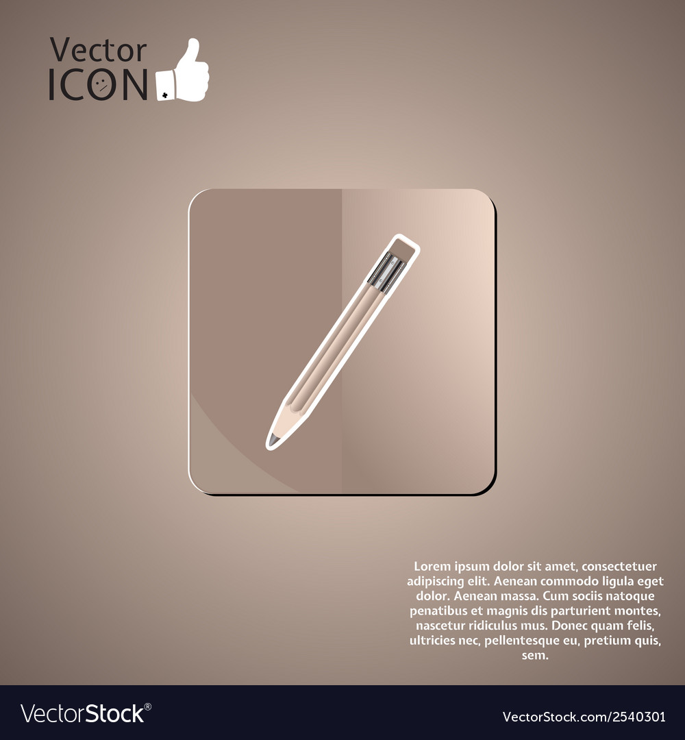 Pencil button on the background vector | Price: 1 Credit (USD $1)
