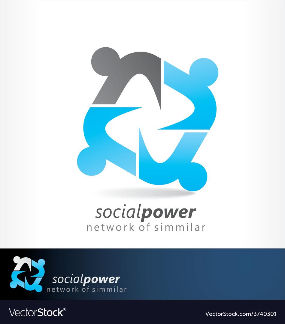 Social power2 vector | Price: 1 Credit (USD $1)