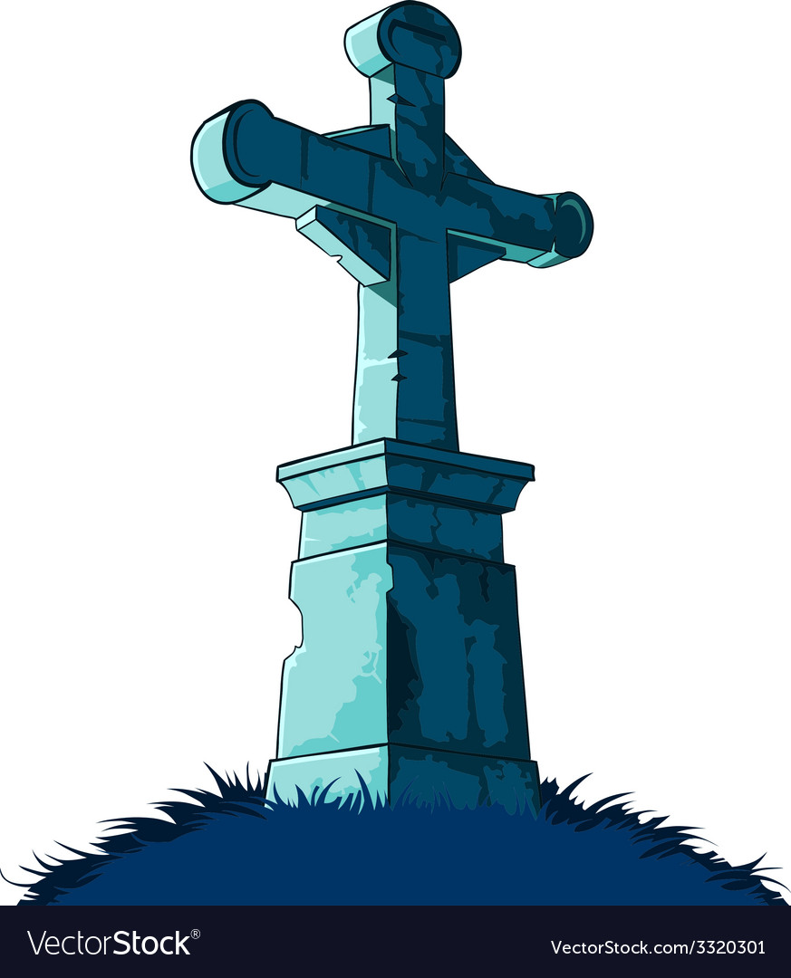 Tombstone cross vector | Price: 1 Credit (USD $1)
