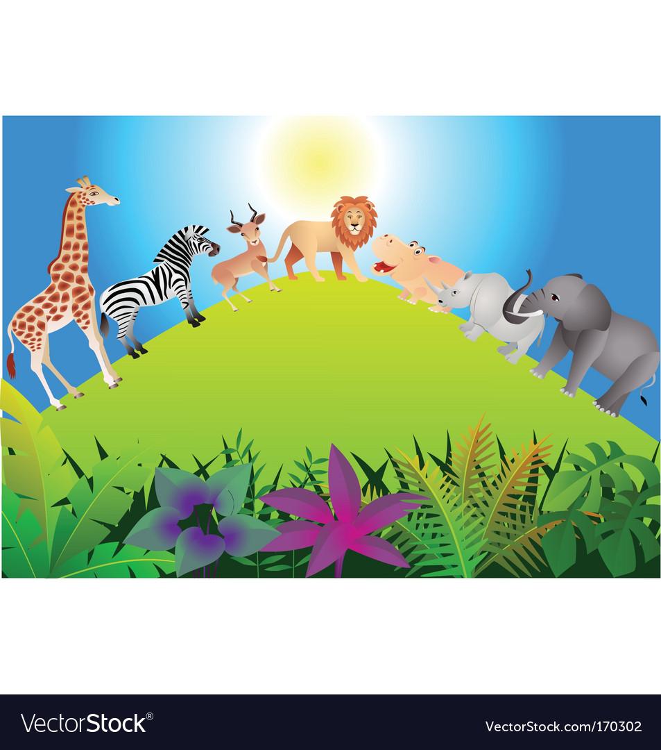 Animal safari vector | Price: 3 Credit (USD $3)