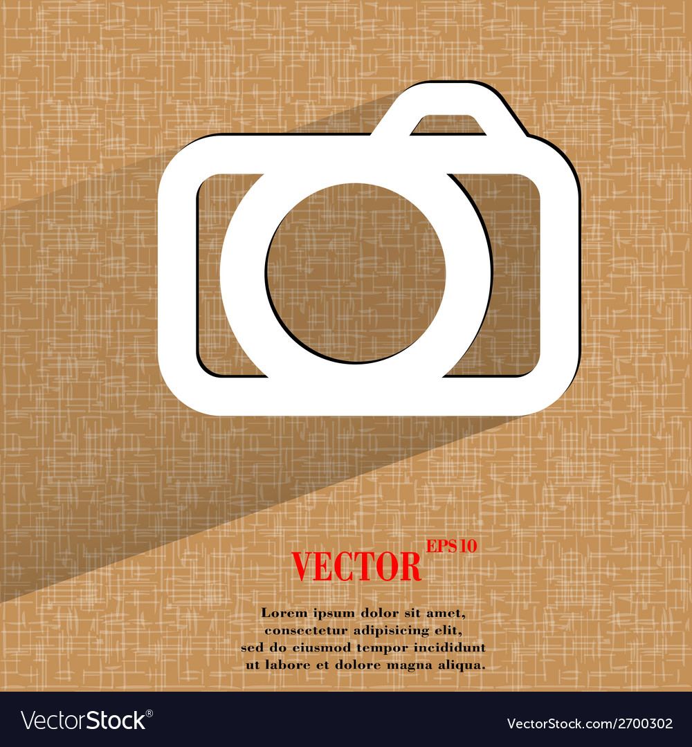 Camera flat modern web design on a flat geometric vector | Price: 1 Credit (USD $1)