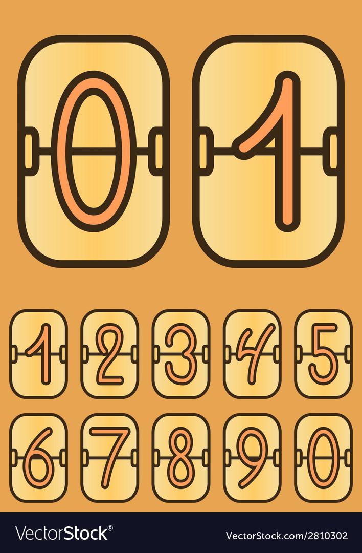 Countdown timer cartoon scoreboard vector   Price: 1 Credit (USD $1)