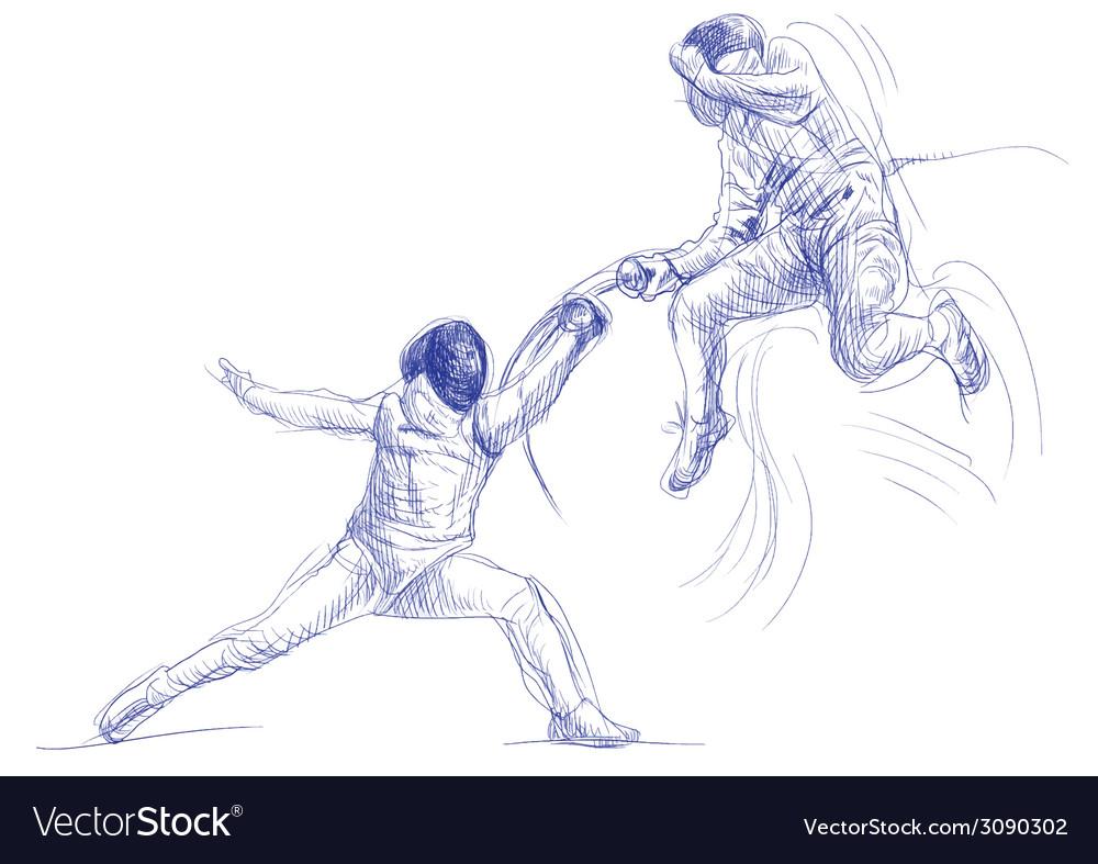 Fencing vector | Price: 1 Credit (USD $1)