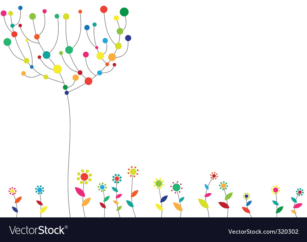 Floral funky background vector | Price: 1 Credit (USD $1)