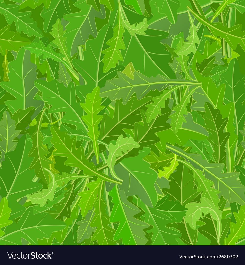 Seamless texture of leaf arugula vector | Price: 1 Credit (USD $1)