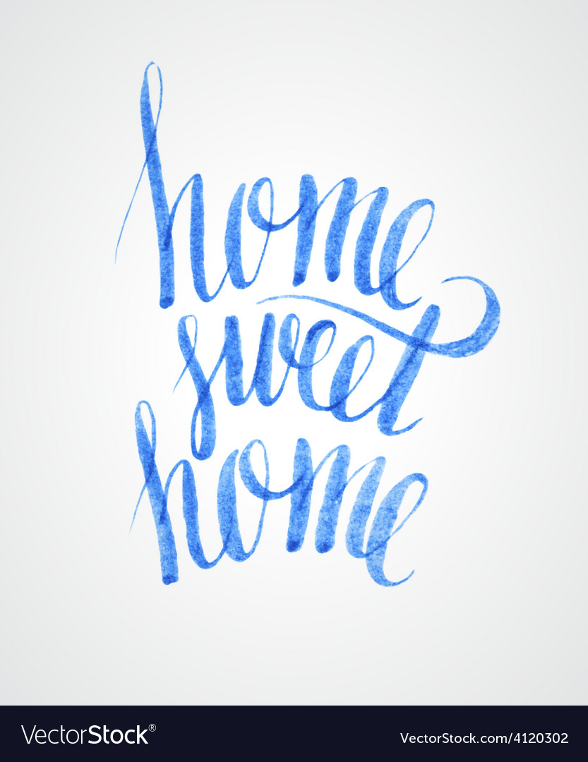 Sweet home lettering vector | Price: 3 Credit (USD $3)