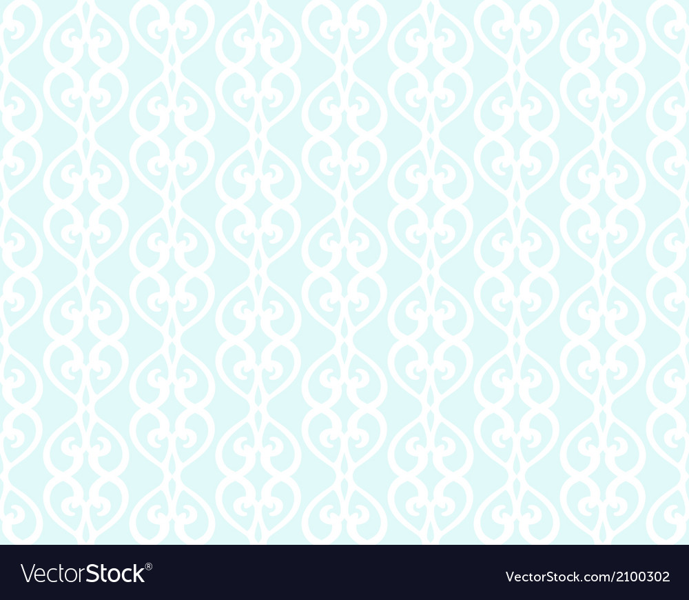 White forged lacing seamless pattern on blue vector | Price: 1 Credit (USD $1)