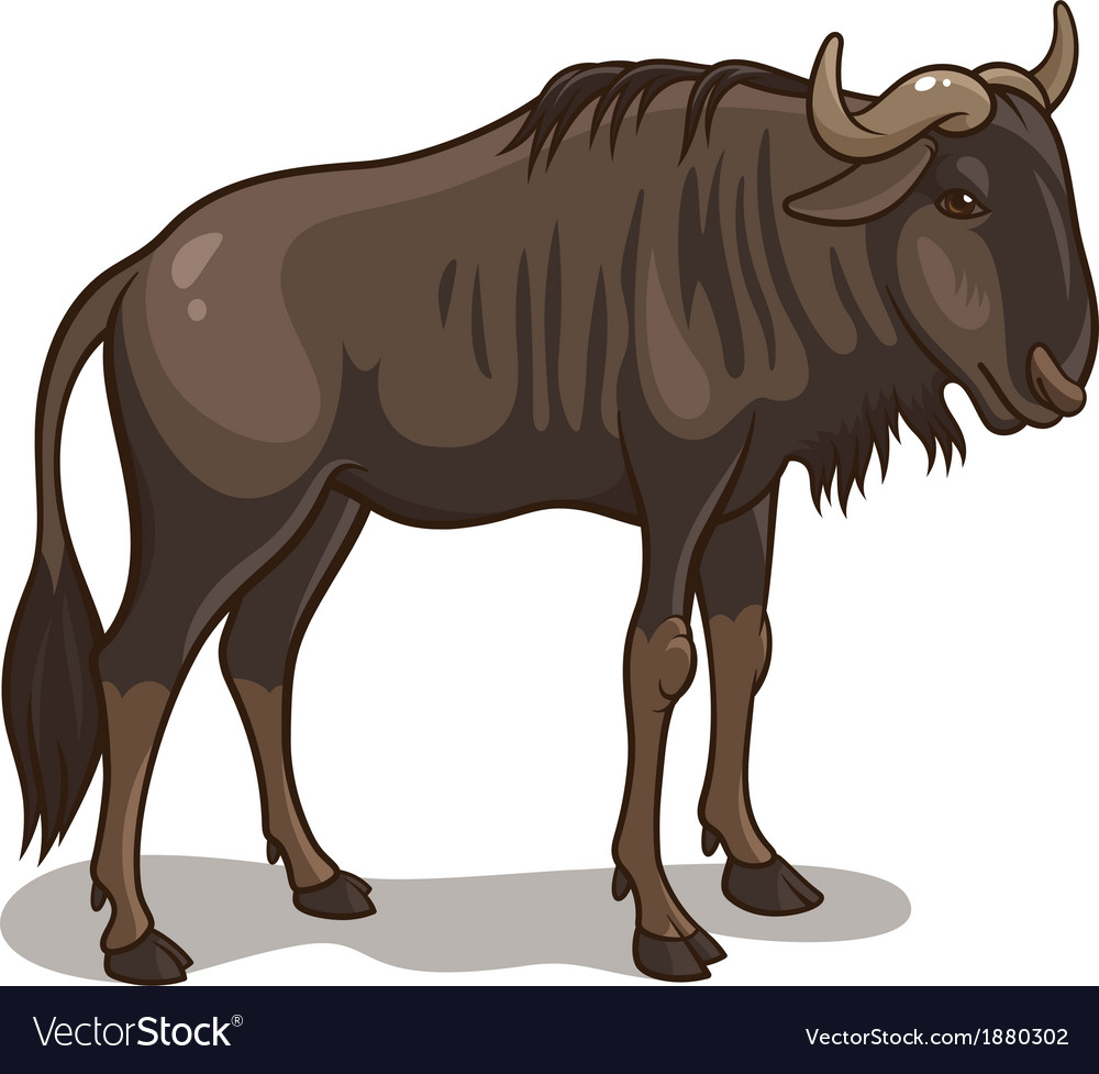 Wildebeest vector | Price: 3 Credit (USD $3)