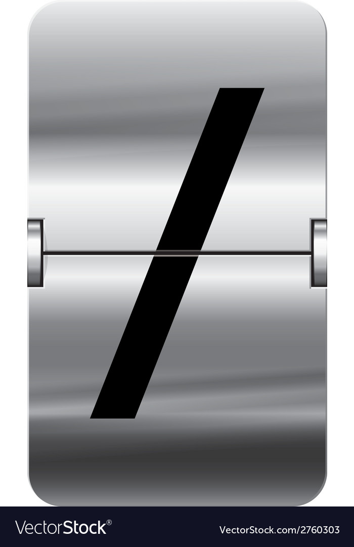 Alphabet silver flipboard letters slash vector | Price: 1 Credit (USD $1)