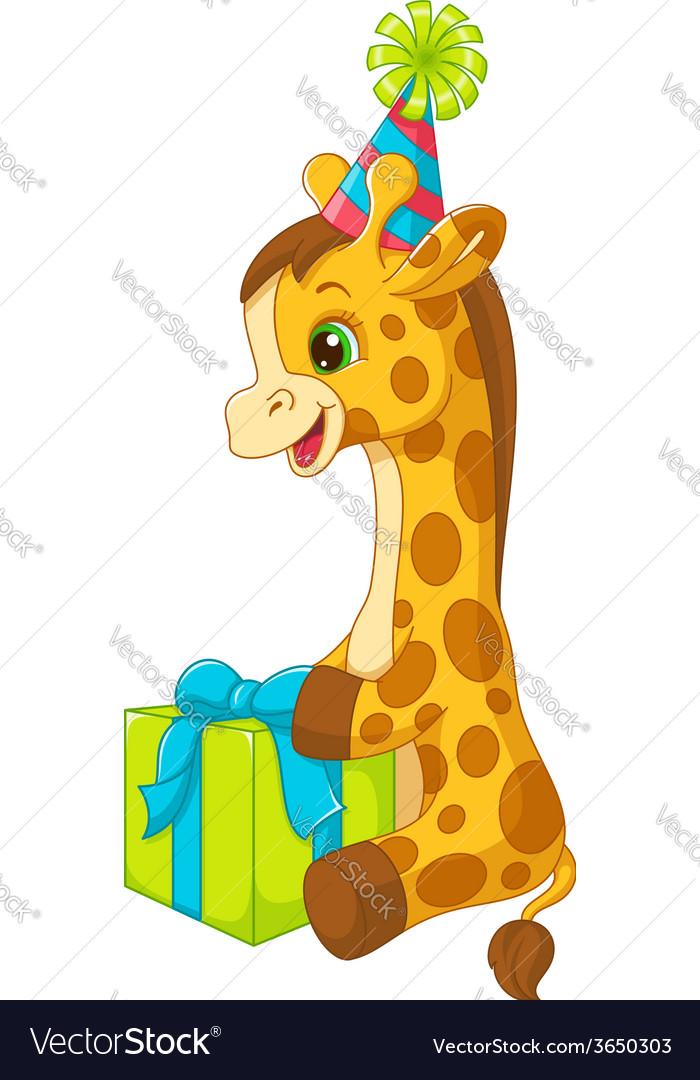 Birthday giraffe vector | Price: 3 Credit (USD $3)