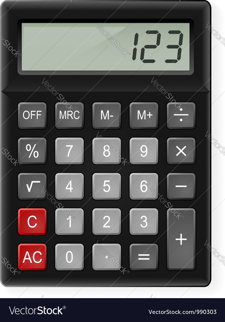 Calculator vector | Price: 3 Credit (USD $3)