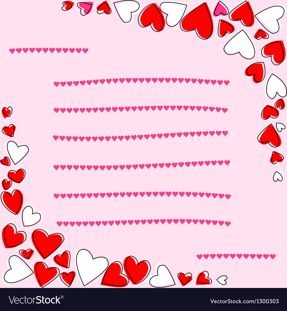 Card of love vector | Price: 1 Credit (USD $1)