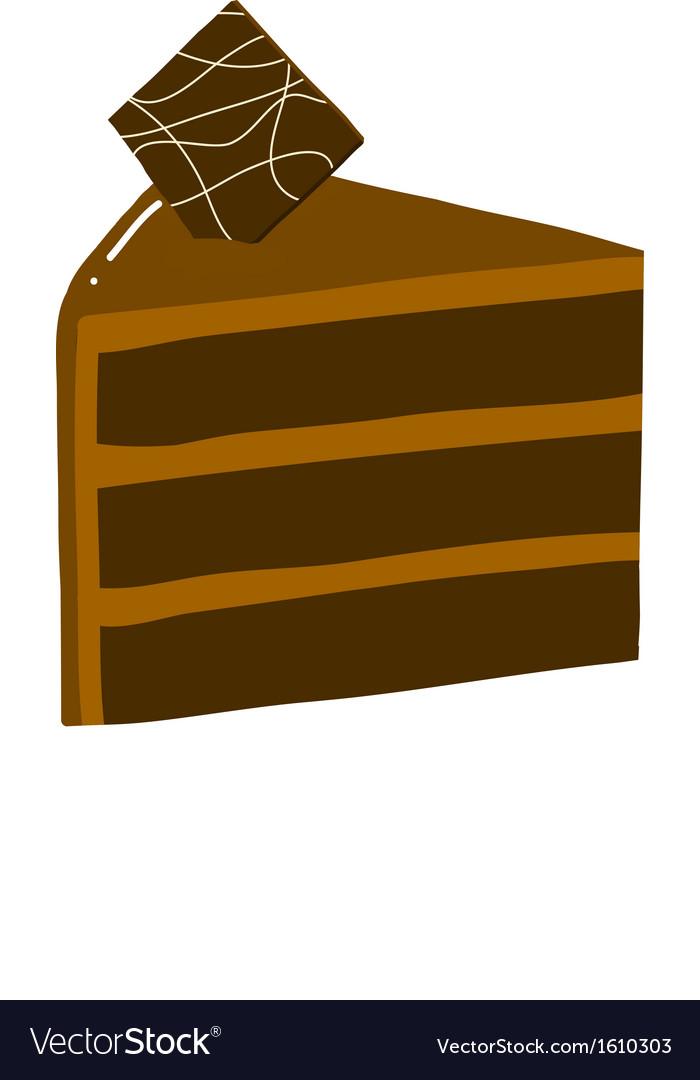 Chocolate cake slice vector | Price: 1 Credit (USD $1)