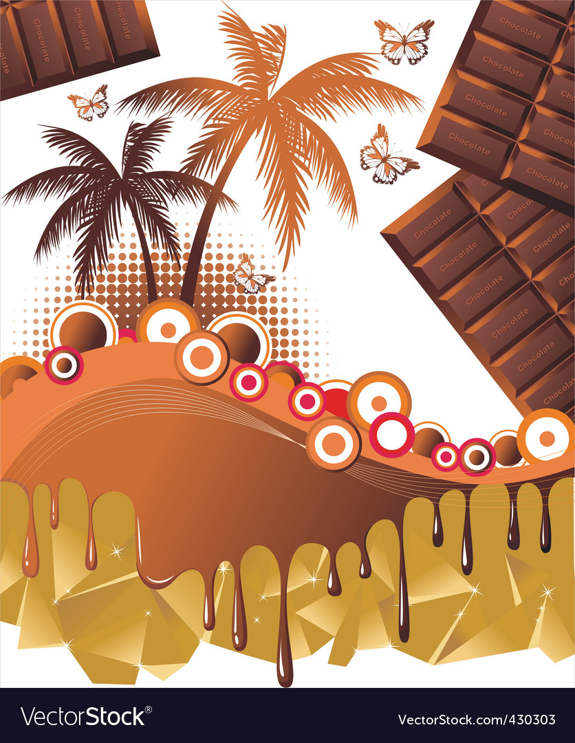 Chocolate paradise background vector | Price: 1 Credit (USD $1)