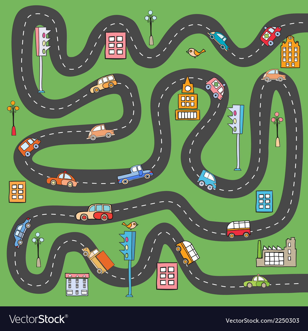 City road vector | Price: 1 Credit (USD $1)