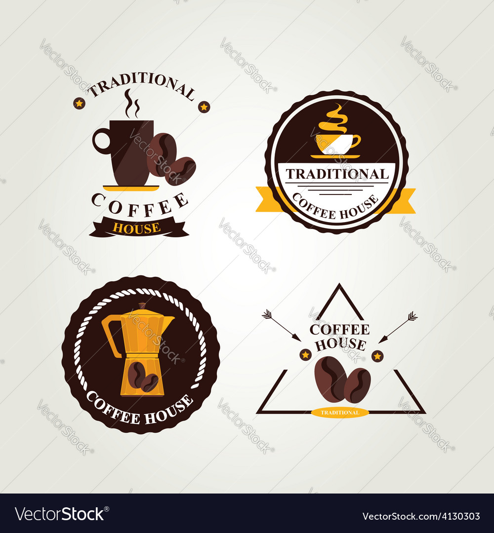 Coffee label icon menu vector | Price: 1 Credit (USD $1)